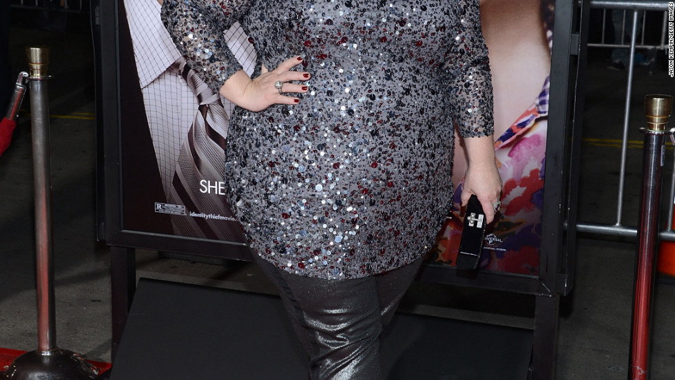 "Melissa McCarthy attends the premiere of ""Identity Thief."""