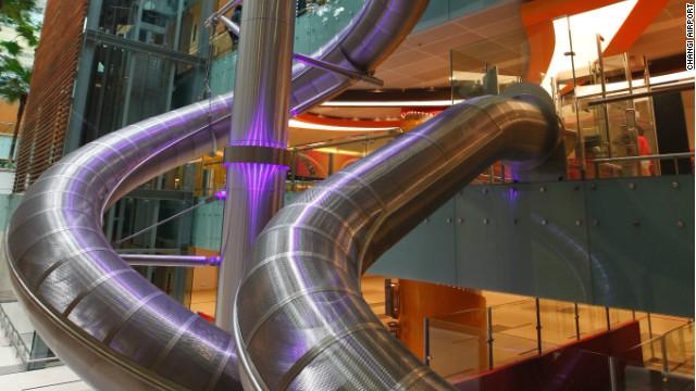 The Changi Airport fun slide.