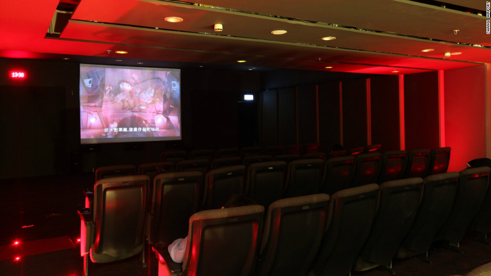The Southeast Asian hub has a longstanding reputation for its passenger service and entertainment facilities, such as this complimentary movie theater that streams films 24 hours a day.
