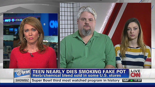 Teen nearly dies smoking fake pot