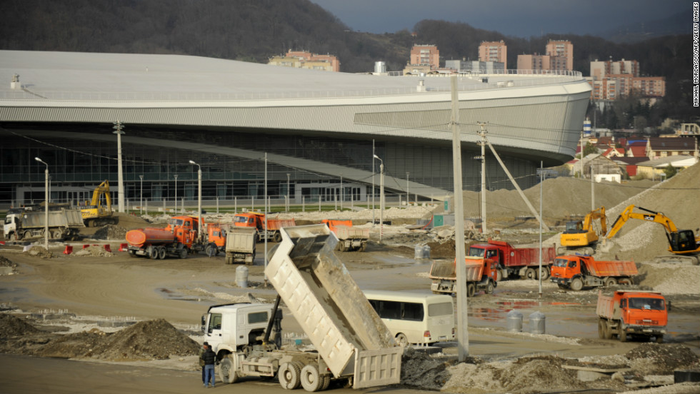 Speed skating is one of the Olympic sports that has already held test events, despite outer parts of the venue still being under construction.