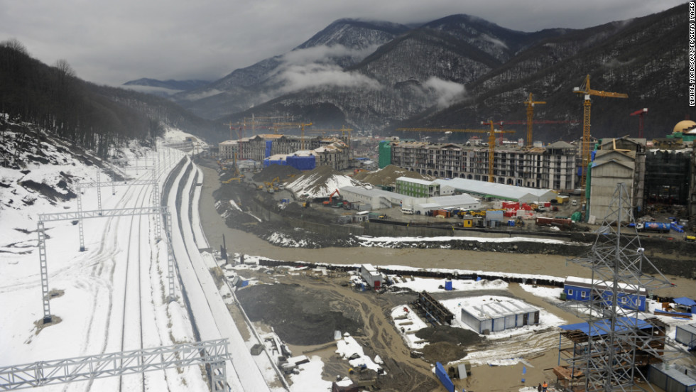 "A high-speed rail line will link the mountain venues with the seaside stadiums, a journey expected to take 45 minutes. ""You can go to downhill alpine skiing events in the morning and watch track and figure skating in the evening,"" U.S. Olympic Committee official Patrick Sandusky told CNN."