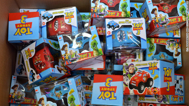These counterfeit toys are among thousands recovered by U.S. Immigration and Customs Enforcement.