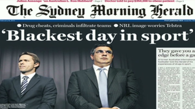 Sports doping scandal rocks Australia