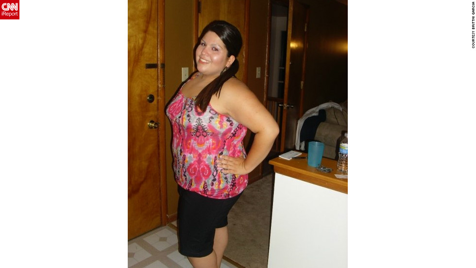 Brittni Garcia began her weight loss journey in 2009 at 235 pounds.