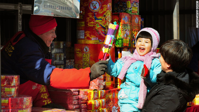 Kids see Chinese New Year through rose-tinted glasses.
