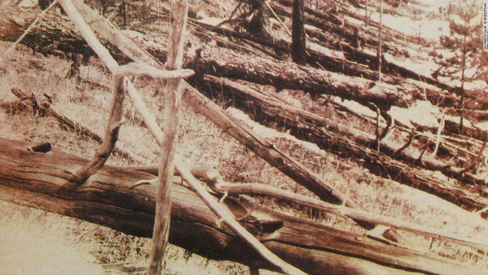 In 1908 in Tunguska, Siberia, scientists theorize an asteroid flattened about 750 square miles (1,200 square kilometers) of forest in and around the Podkamennaya Tunguska River in what is now Krasnoyarsk Krai, Russia.