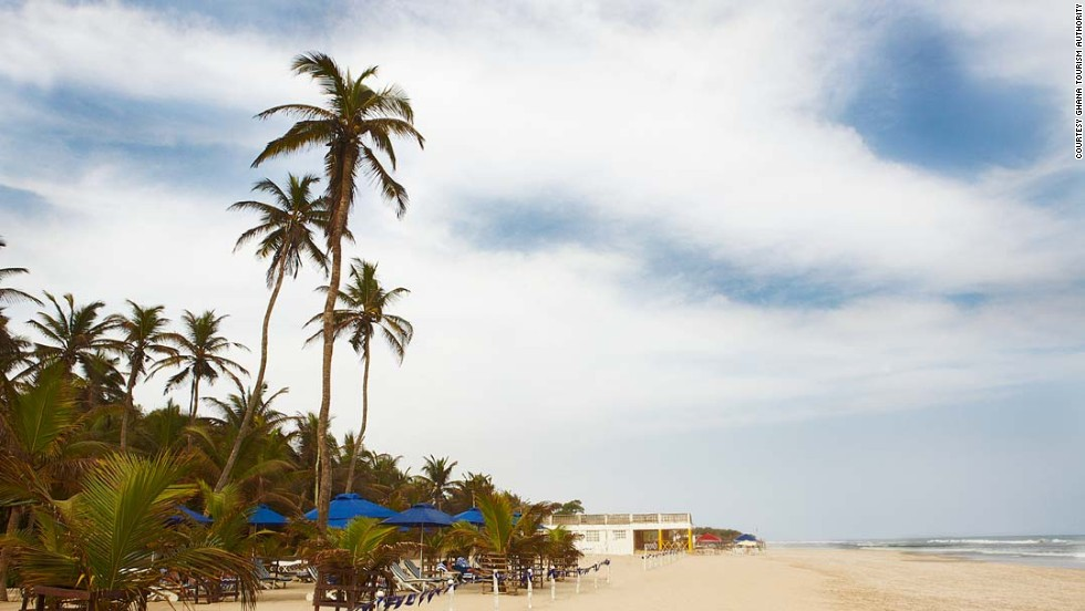 Labadi beach is Accra's most popular stretch of coast. On weekends visitors are entertained by traditional Ghanaian music, drumming and dancing.