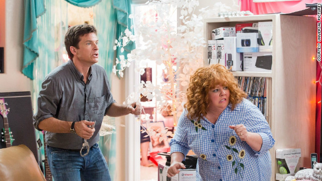 "Comic powerhouse Melissa McCarthy proves to be a handful for Jason Bateman in ""Identity Thief."""
