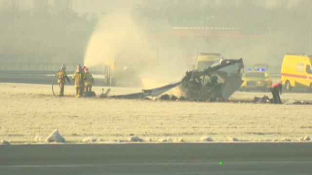 Belgium plane crash aftermath