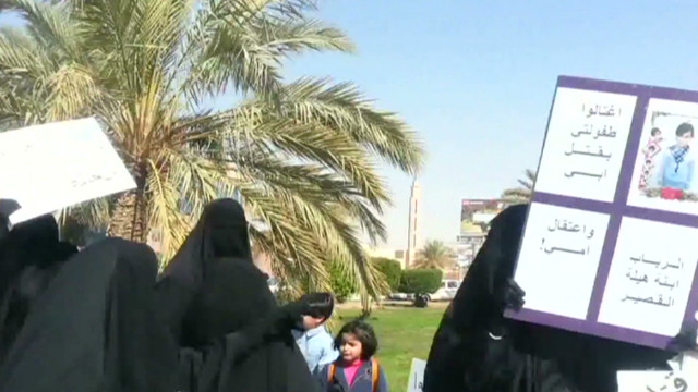 Saudi women protest