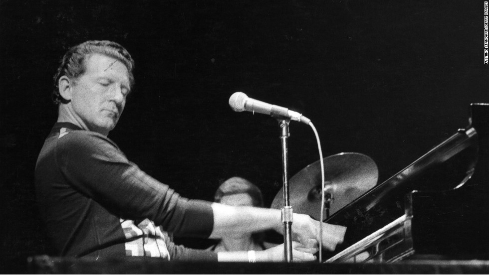 """The Killer,"" Jerry Lee Lewis, shown here in 1970, drew crowds for decades. They came to watch him pound his piano through his hits of the 1950s, such as ""Great Balls of Fire.""  He was was awarded a Lifetime Achievement Grammy in 2005."