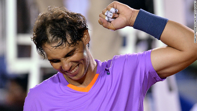 Rafael Nadal got back to winning ways by clinching victory at the Brazil Open.