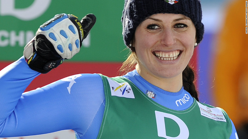 Italy's 2009 bronze medalist Nadia Fanchini was second, her best result since returning from serious knee injuries which ruled her out of the Vancouver Winter Olympics.