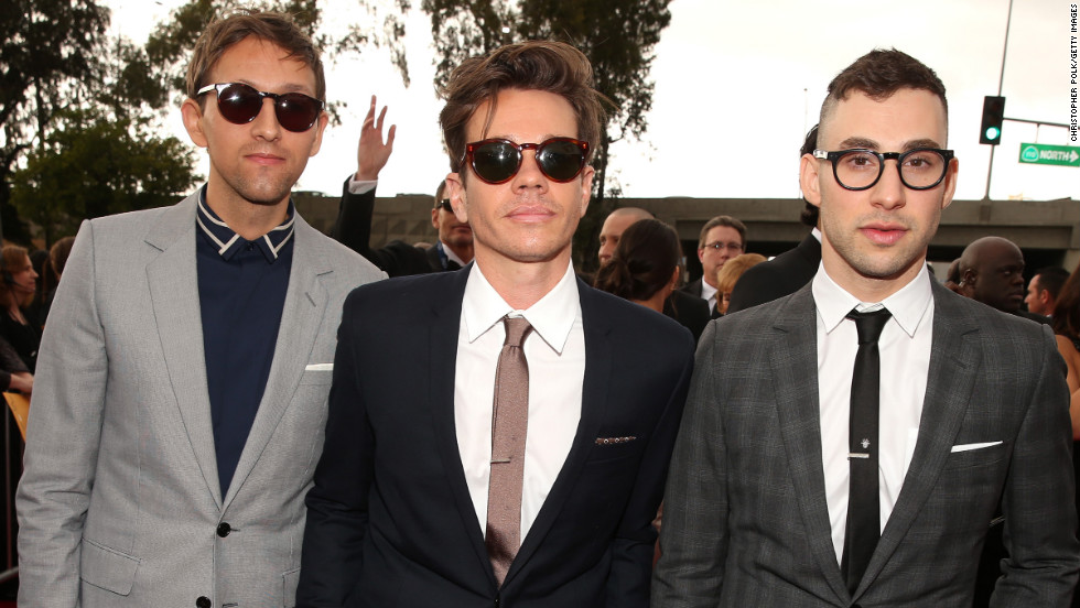 Andrew Dost, Nate Ruess and Jack Antonoff of Fun.