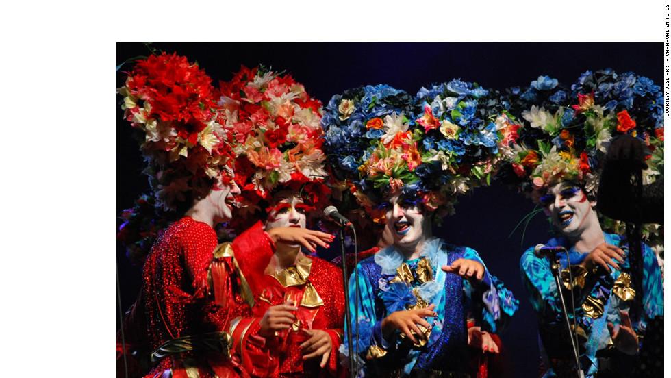 Blossoming Murga La Clave performs in Montevideo, Uruguay.