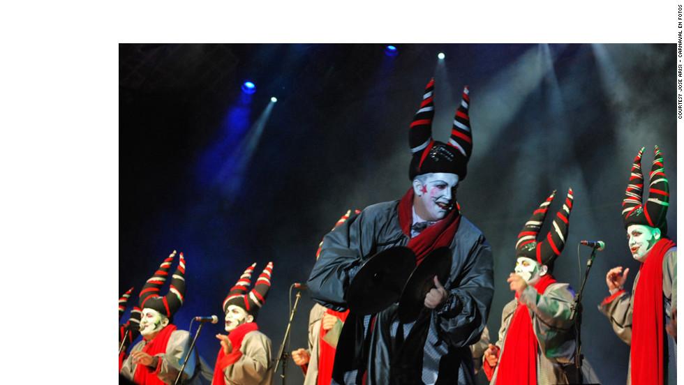 Murga Los Diablos Verdes put on a spirited show in Montevideo.
