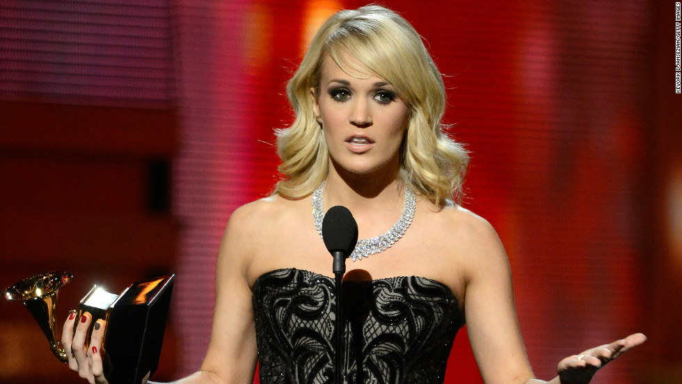 "Carrie Underwood won best country solo performance for ""Blown Away."" ""Country music has always been so good to me,"" said the ""American Idol"" alum, ""and I thank the good Lord that I'm part of such a wonderful, talented, amazing family."""