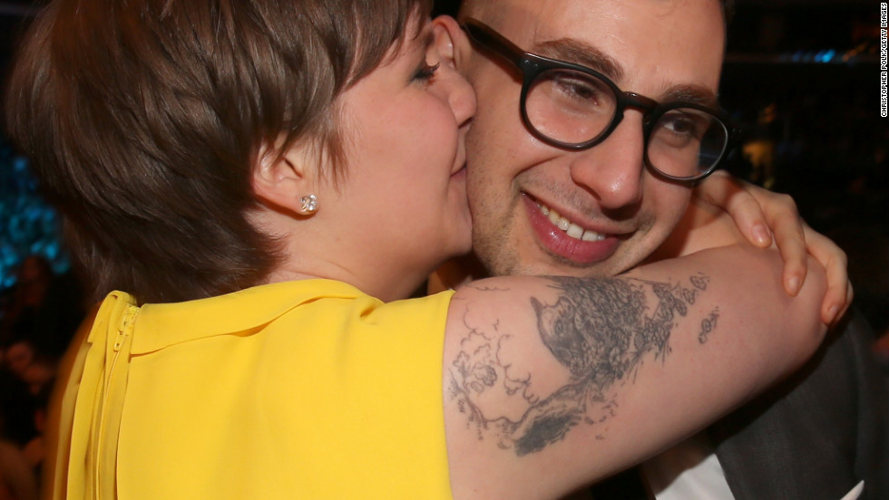 "Lena Dunham: ""I'm so proud of you!""<br />Fun. guitarist Jack Antonoff: ""I'm not even a 'new' artist."""