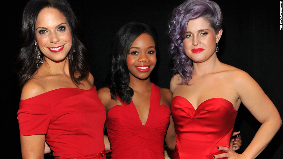 Soledad O'Brien, from left, Gabby Douglas and Kelly Osbourne