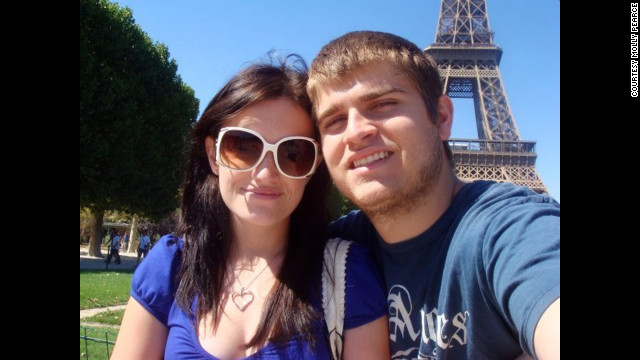 Molly Pearce and boyfriend Corey Eaker in Paris. Pearce was born with Hirschsprung's disease, a rare congenital disorder.