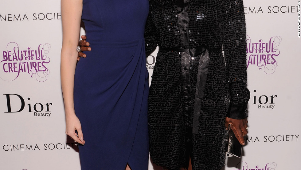 "Emmy Rossum and Viola Davis attend a screening of ""Beautiful Creatures"" in NYC."