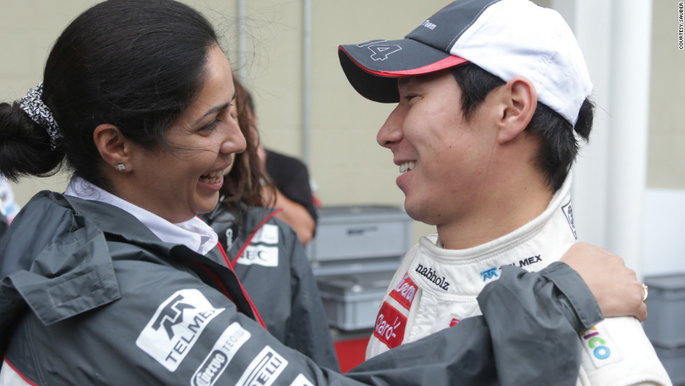 Kaltenborn with Japanese driver Kamui Kobayashi at the 2011 Brazilian Grand Prix. Kobayashi competed for Sauber from 2010 to 2012, but has now been replaced by Esteban Gutierrez and Nico Hulkenberg.