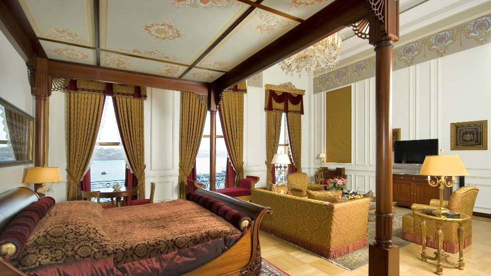 Book the Sultan Suite at the Ciragan Palace Kempinski in Istanbul and this will be your luxurious bedroom.