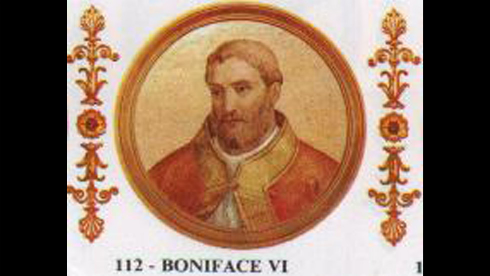 Boniface VI reigned for 16 days in the year 896.
