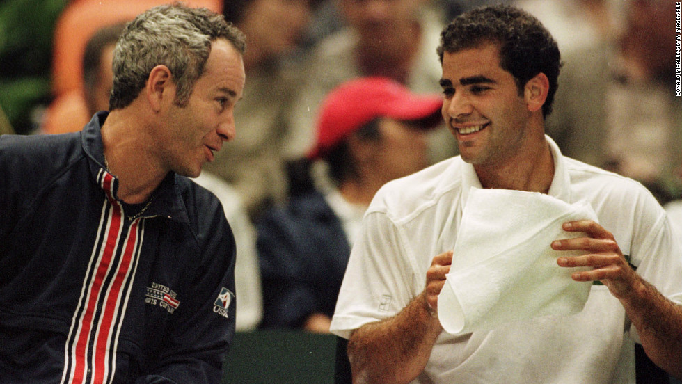 """My toughest opponent was a guy by the name of Pete Sampras."" McEnroe's career briefly overlapped with that of the 14-time grand slam champion, but he lost all three of their matches. McEnroe was later his Davis Cup captain and they have renewed their rivalry on the legends circuit."