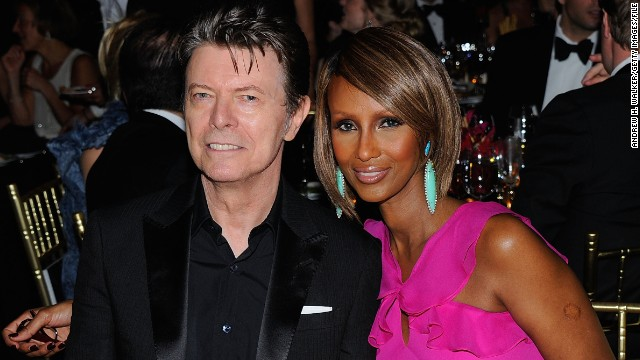 David Bowie and supermodel Iman attend the DKMS' 5th Annual Gala: Linked Against Leukemia honoring Rihanna & Michael Clinton hosted by Katharina Harf at Cipriani Wall Street on April 28, 2011 in New York City. (Photo by Andrew H. Walker/Getty Images for DKMS)