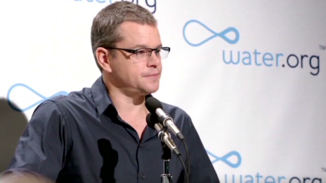 Matt Damon goes on a 'toilet strike'
