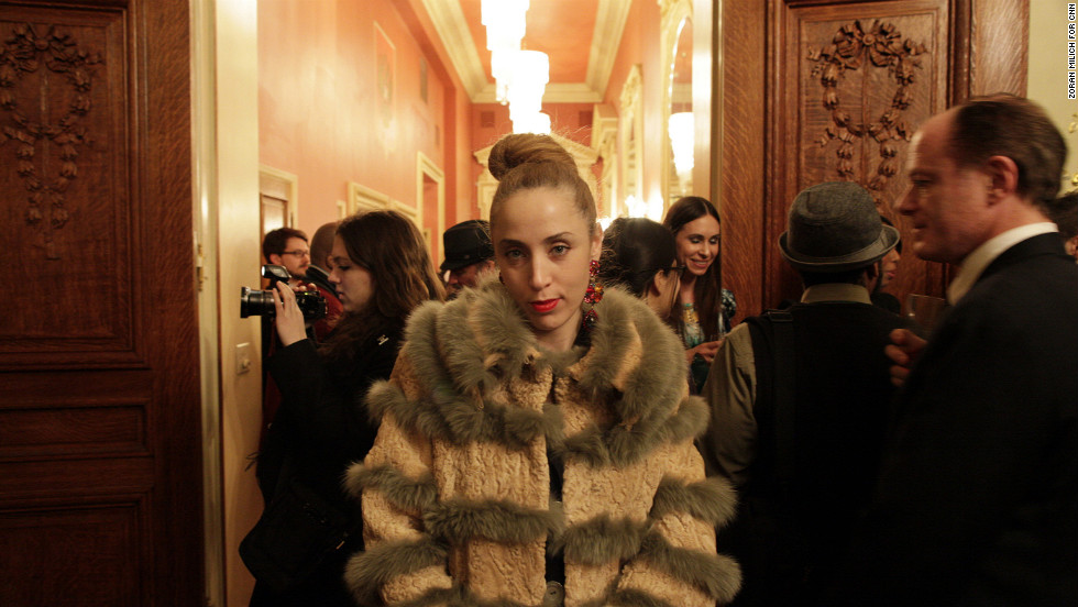 "The Russian consulate hosted <a href=""http://www.cnn.com/2013/02/08/living/nyfw-russia-korea-japan-finland-shows"">an exclusive showcase</a> on February 6. Because of the country's harsh winters, fur remains popular in Russian fashion. <a href=""http://www.cnn.com/2013/02/07/living/gallery/ny-fashion-week/index.html"">View more photos from Fashion Week.</a>"