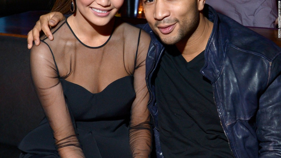 Chrissy Teigen and John Legend attend SI Swimsuit on Location in Las Vegas.