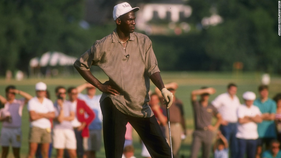 Jordan at a golfing event in 1989.