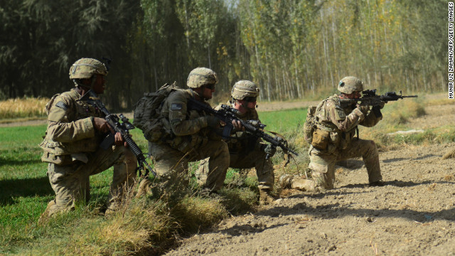 U.S. soldiers operating under the NATO-sponsored International Security Assistance Force (ISAF) are pictured in October.
