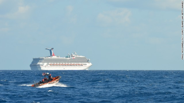 The Carnival Triumph was stranded for days in February after an engine fire knocked out power.