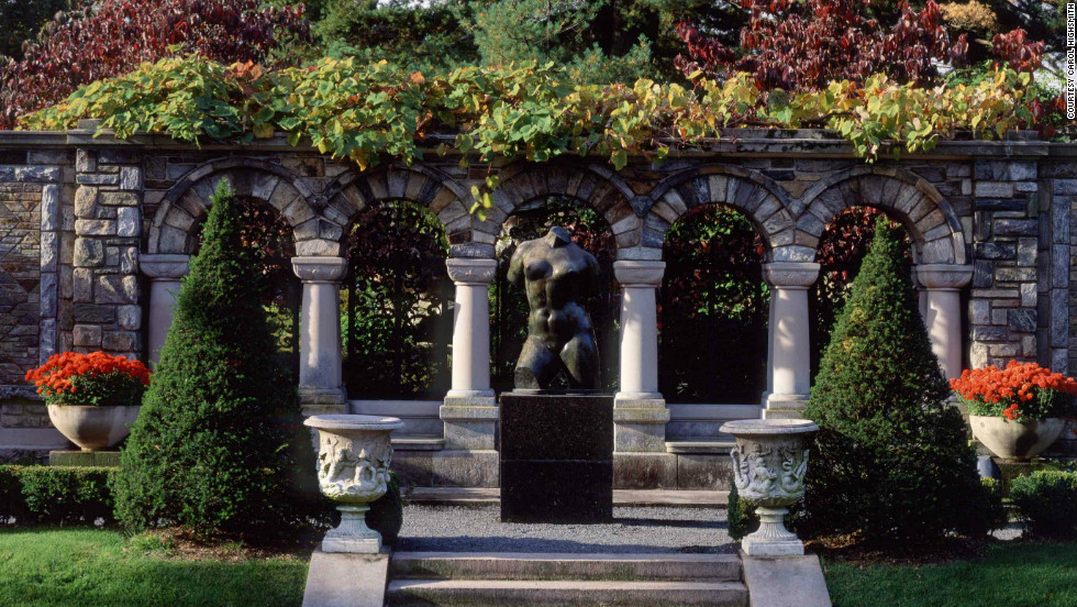 "Maillol's ""The Torso"" from 1906 is among the sculptures positioned across the lawns at Kykuit."