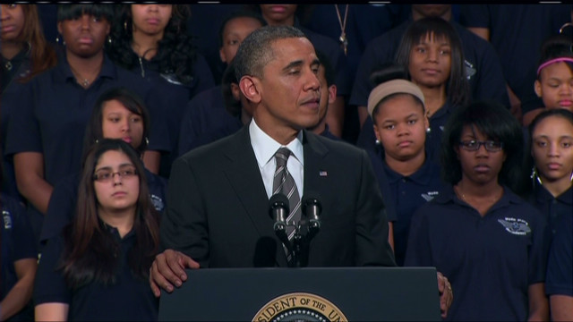 Obama: Involved dads could curb violence
