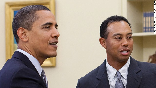 President Obama and Tiger Woods enjoyed a round of golf in Palm Beach, Florida on Sunday