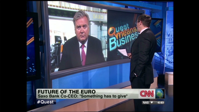 Saxo Bank co-CEO: Euro should not exist