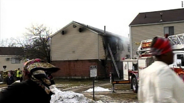 Three children, ages 1, 3 and 3, died in an apartment fire in Kalamazoo, Michigan, on Monday.