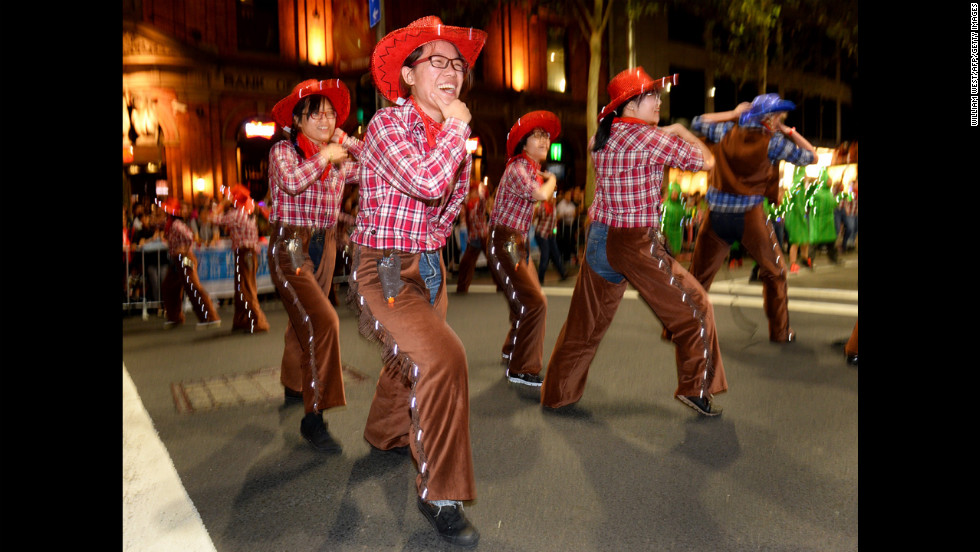Performers entertain the crowds at the Chinese New Year parade in Sydney on Sunday, February 17. The parade featured more than 3,500 performers from Australia and China, including 120 performers from Shenzhen, China, Sydney's official partner city for this year's festival.