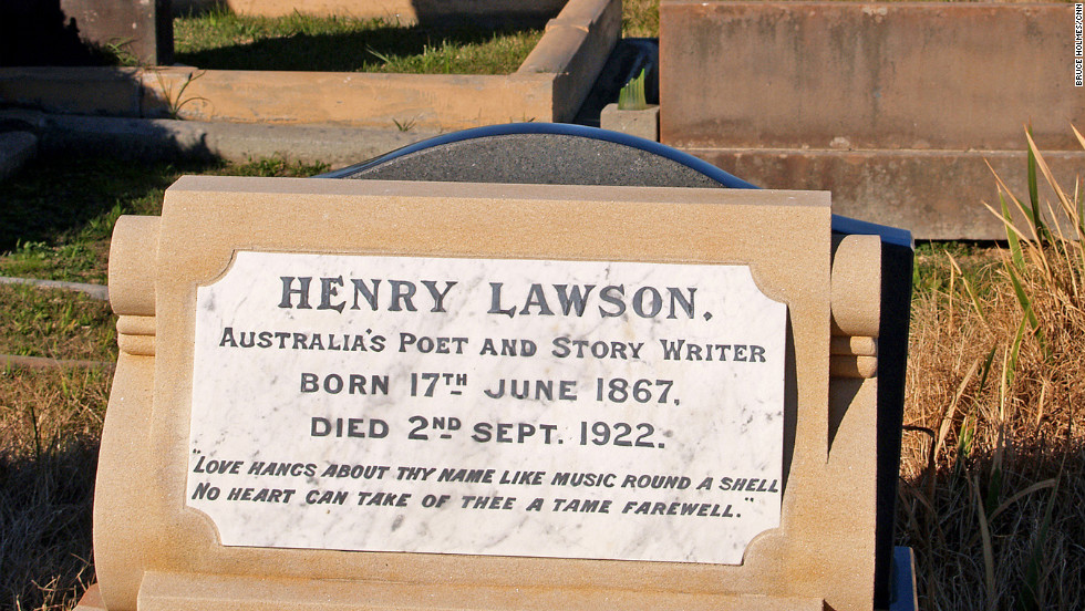 "As well as being the resting place of Henry Lawson, Sydney's Waverley Cemetery served as the location for the funeral scenes in Baz Luhrmann's ""The Great Gatsby,"" to be released in 2013."