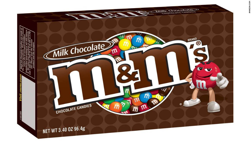 "<strong>Worst chocolate candy: M&Ms, 3.4-ounce box </strong><br />A theater-sized box of milk chocolate M&Ms states its nutrition info clearly on the box: 210 calories! But look a little closer and you'll see the small print beneath those numbers: ""per serving,"" and ""2.5 servings per pack."" In reality, that's 525 calories in each box, along with 68 grams of sugar and 22 grams of fat (12 grams saturated). <br /><br />Choosing Peanut M&Ms over regular means slightly more total calories and fat, but less sugar and saturated fat. Don't be fooled by other healthier-sounding varieties, however, like peanut butter or dark chocolate: ""The quality of nuts and seeds and cocoa used in these candies are so far removed from the natural, good-for-you ingredients, it's not worth considering their health benefits,"" says Kriegler."