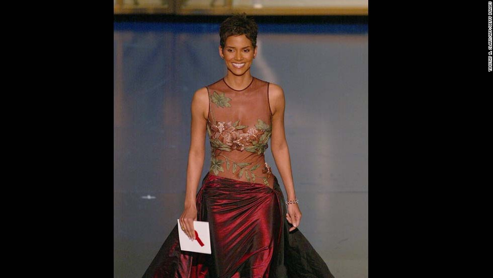 Halle Berry won twice at the 2002 Oscars: She became the first black woman to take home the best actress award, and she did it in a Elie Saab dress that can still stop hearts.