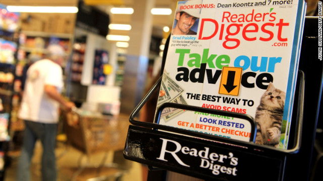 Reader's Digest magazine is displayed on a rack at a grocery store in San Anselmo, California.
