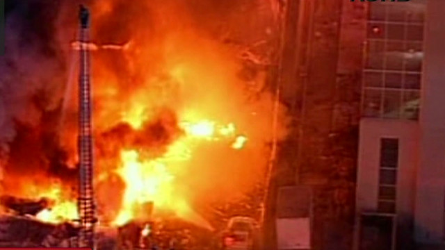 Gas explosion causes huge fire, injuries