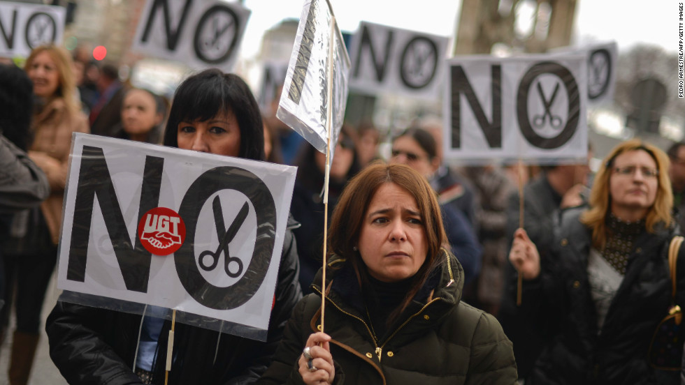 Judges, prosecutors and justice workers called the strike against the government's spending cuts.