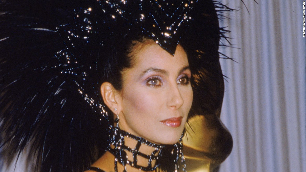 Cher channeled her inner showgirl at the 1986 Academy Awards, showing up in this sequined and feathered ensemble.